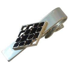 Leavens Silver Tone Tie Clip