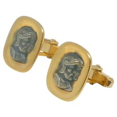 Anson Roman Centurion Gold Tone Cufflink Cuff Links