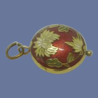 Red Cloisonne Charm / Pendant