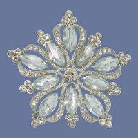 Vintage Silver Tone Diamond Rhinestone Pin