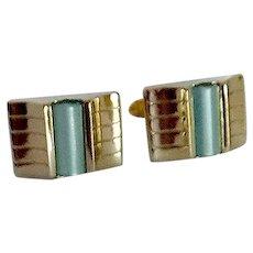 Kreisler Change of Color Cuff Links Green / Blue Gold Tone Cufflinks