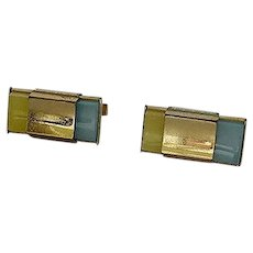 Kreisler Change of Color Cuff Links Blue /Yellow Cufflinks Cuff Links