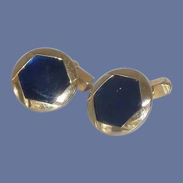 Swank Cobalt Blue Round Cuff Links Cufflinks