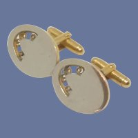 Flex Let Filigree Gold Tone Cuff Links Cufflinks