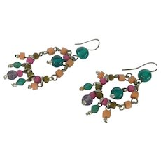 Dangle Beaded Summer Pierced Earrings