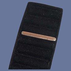 Gold Tone Simple Necktie Tie Clip Bar