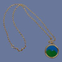 March of Dimes 1970's Gold Tone Necklace