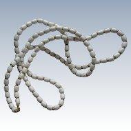Vintage Trifari Necklace White Lucite Beads