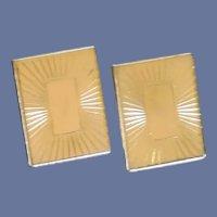 Swank Gold Tone Rectangle for Initials Cuff link Cufflinks