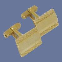 Gold Tone Rectangle Swank Cuff Links Cufflinks