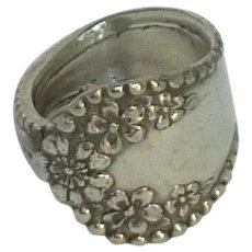 Silver Plate Spoon Ring 1970's