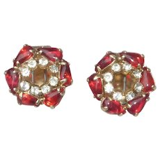 Red Jelly Belly Clip On Earrings