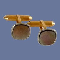 Krementz Black Mother of Pearl Cuff Links Cufflinks