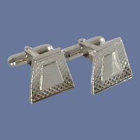 Anson Silver Tone Geometric Shape Cuff Links Cufflinks
