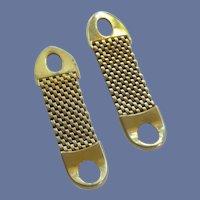Gold Tone Wrap Around Cufflink Cuff Links Convertible