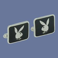 Playboy Bunny Black Cufflinks Cuff Links