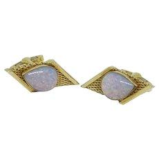 Germany DRP Gold Tone Glass Stone Cufflinks Cuff Links