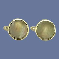 Swank Black Mother of Pearl Silver Tone Cuff Links Cufflinks