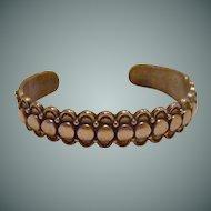 Mid Century Thin Solid Copper Cuff Bracelet