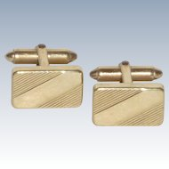 Krementz  Small Elegant Rectangular Cuff Links Cufflinks GF