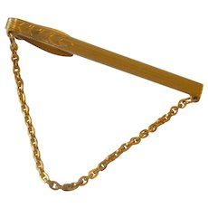 Tie Chain Tie Bar Gold Tone Hickok