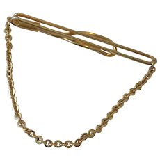Tie Chain Tie Bar Gold Tone Swank