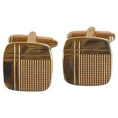 Gold Tone Swank Square Cufflinks Cuff Links