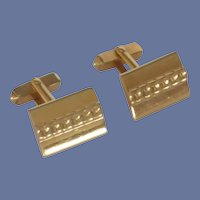 Swank Gold Tone Rectangular Cufflinks Cuff Links