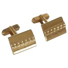 Swank Gold Tone Rectangular Cufflinks Cuff Links