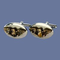 Silver and Gold Tone Swank Eagle Cufflinks Cuff Links