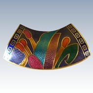 Cloisonne  Neck Scarf Holder Pendant