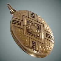 Gold Filled Picture Locket Early 1900's