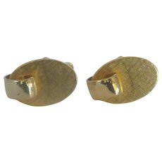 Brushed Gold Tone Small Cufflinks Cuff Links