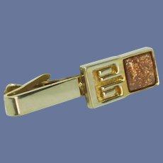 Goldstone Alligator Clip Tie Bar