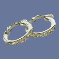 Diamond Rhinestone Cuff Clip On Earrings