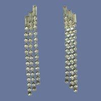 Dangle Diamond Rhinestone Pierced Earrings