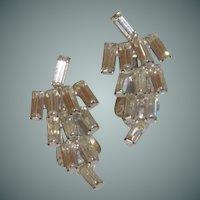 1950's Diamond Rhinestone Clip on Earring