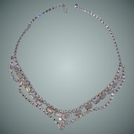 1940-1950 Diamond Rhinestone Necklace