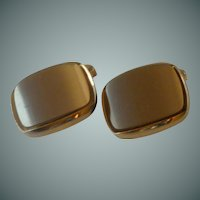 Faux Tiger Eye Gold Tone Cufflinks Cuff Links