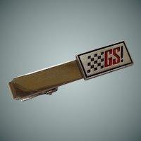 GS Flag Silver Tone Anson Tie Bar Clip
