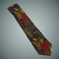 Halston Silk Tie 1800 Century Ladies