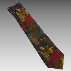 Halston Silk Tie 1800 Century Ladies