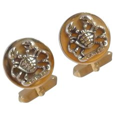 Astrological Cancer Crab Sign Cuff Links Cufflinks