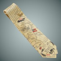 Star Spangled Banner Aritifacts Silk Tie