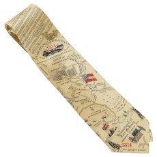 Star Spangled Banner Aritifacts Silk Tie
