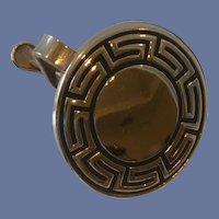 Aztec Pattern Pioneer Round Tie Clip Bar