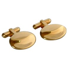 Gold Filled Oval Adjustable Shank Cuff  Links Cufflinks