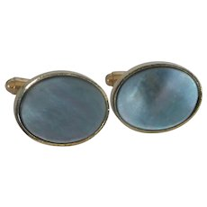 Anson Black Mother of Pearl Oval Cuff Links Cufflinks