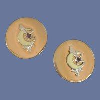 Swank Masonic Symbol Gold Tone Cuff Links Cufflinks