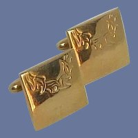 Gold Tone Square Swank Cufflinks Cuff Links